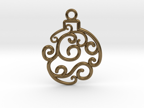 Holiday Swirl Ornament in Natural Bronze