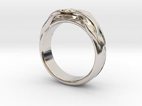 DESIGNER RING 5 in Rhodium Plated Brass: 7 / 54