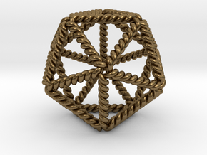 "Twisted Icosahedron LH 2"" in Natural Bronze"