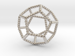 Twisted Dodecahedron LH in Rhodium Plated Brass