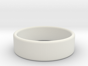 Pearl ring in White Natural Versatile Plastic