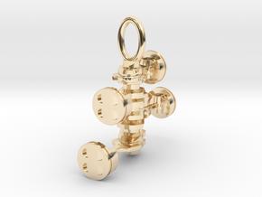 Pendant Subaru boxer/flat 4 in 14k Gold Plated Brass
