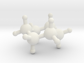 Cyclohexane in White Natural Versatile Plastic