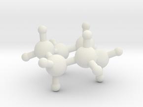 Cyclohexane in White Natural Versatile Plastic