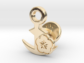 Cufflinks - BUU! BUU! Desu wa! in 14k Gold Plated Brass