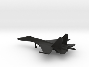 Sukhoi Su-27 Flanker in Black Natural Versatile Plastic: 6mm