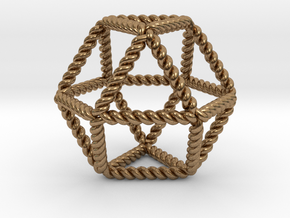 Twisted Cuboctahedron RH in Natural Brass