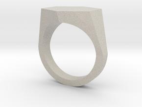 hexagon customizable ring in Natural Sandstone