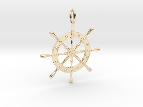 Boat Steering Wheel in 14K Yellow Gold