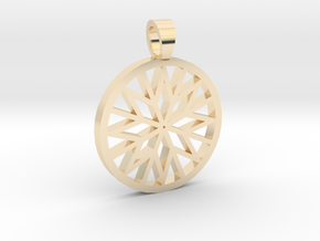 Brillant cut back [pendant] in 14k Gold Plated Brass