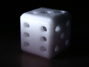 Hollow Dice (D6) in White Strong & Flexible