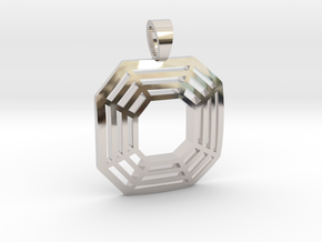 Assher cut [pendant] in Rhodium Plated Brass