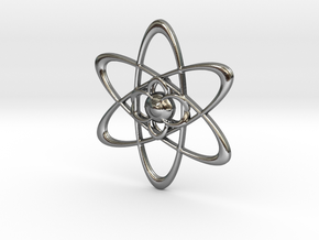 Atomic in Polished Silver