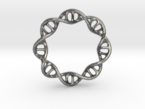 DNA Ring 1 in Polished Silver