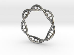 DNA Ring 2 in Polished Silver