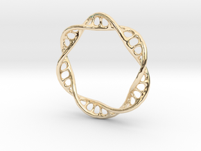 DNA Ring 2 in 14k Gold Plated Brass