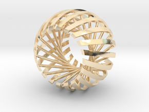 Relative Prime Sphere in 14K Yellow Gold: Extra Small