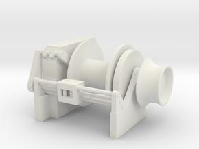 Tug Winch 1/72 fits Harbor Tug in White Natural Versatile Plastic