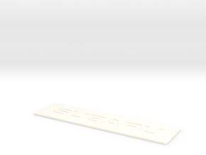 Subaru Floor Mat Badge for WeatherTech Liners in White Processed Versatile Plastic