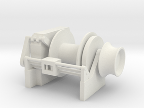 Tug Winch 1/50 fits Harbor Tug in White Natural Versatile Plastic