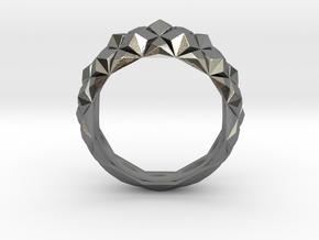 Geometric Cristal Ring 1 in Polished Silver