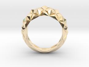 Geometric Cristal Ring 1 in 14K Yellow Gold