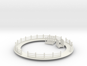 Tip Top walkway with fence and mounting holes for  in White Natural Versatile Plastic