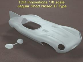 1/8 Jaguar Short Nose D Type in White Strong & Flexible