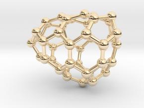 0637 Fullerene c44-9 c1 in 14k Gold Plated Brass