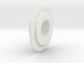 Buri Rear Belt Pulley Flange in White Natural Versatile Plastic