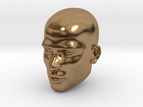 Male head in Natural Brass