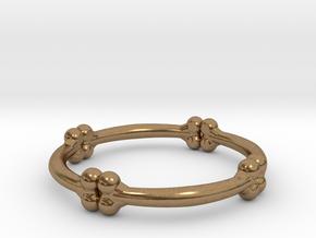 bone ring  in Natural Brass: 6 / 51.5