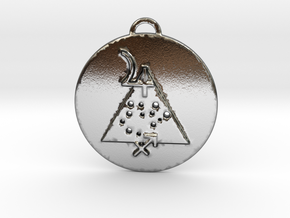 Sagittarius talisman in Polished Silver