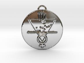 Virgo talisman in Fine Detail Polished Silver