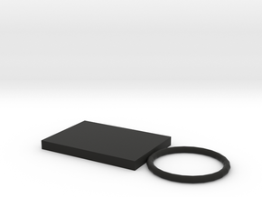 106102319鑰匙圈 in Black Natural Versatile Plastic