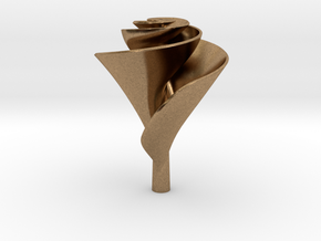Clockwise Lily Shape Impeller in Natural Brass