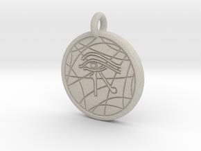 Stargate Eye of Ra pendant / necklace in Natural Sandstone