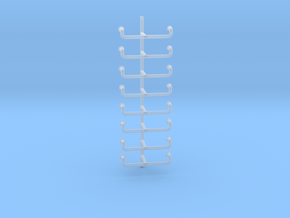 1/40 UBoot Conning Tower Ladder SET x8 in Smooth Fine Detail Plastic