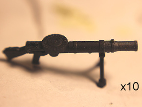 28mm Lewis machine gun (10) in Smoothest Fine Detail Plastic