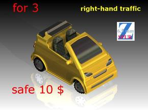 3x Smart cabrio (1/220) # in Smooth Fine Detail Plastic