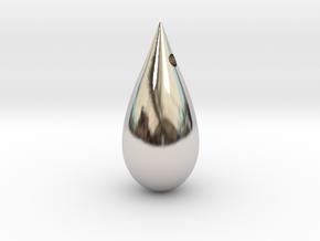 Drop in Rhodium Plated Brass