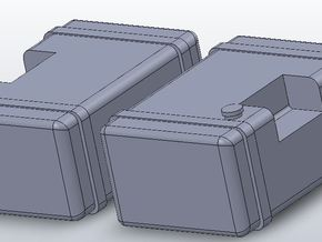 1:64 scale Frame Mounted Fuel Tanks in White Strong & Flexible