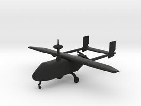 Pegasus II - UAV  in Black Premium Versatile Plastic