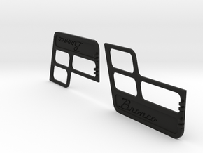 Ford Bronco door inserts by TrailScaleRC in Black Natural Versatile Plastic