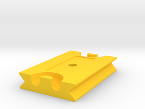 Tetherplate 60mm for DSLR camera's in Yellow Processed Versatile Plastic