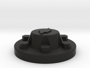 91 chevy center cap 6 lugs  in Black Strong & Flexible: 1:10