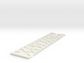 69Bookmark in White Natural Versatile Plastic