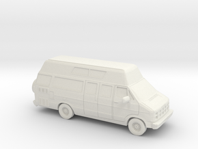 1/87 1986-93 Dodge Ram Custom Van/RV in White Natural Versatile Plastic