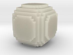 Pixel bottle in Transparent Acrylic: Medium