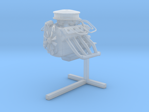 Printle Thing Engine on Stand - 1/43 in Smooth Fine Detail Plastic